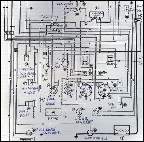 austin healey wiring diagram  | 565 x 799