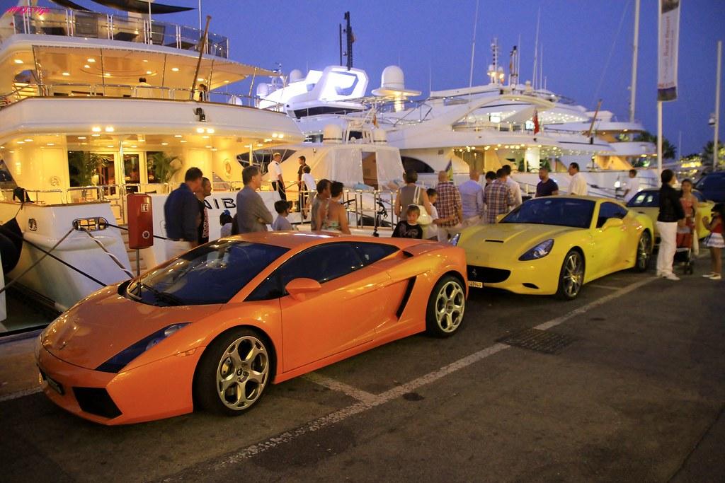 Friday Night Combo In Puerto Banus Super Cars Vs Super Yac Flickr