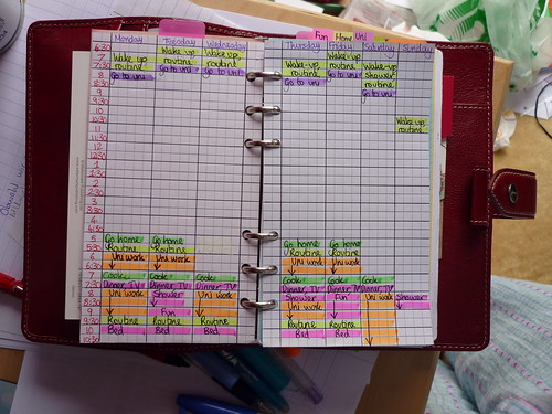 My unfinished weekly rota | by katebTPS