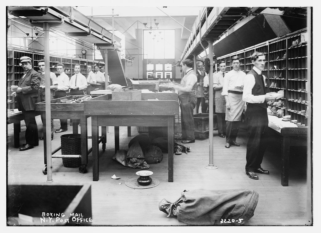 Boxing Mail -- N.Y. Post Office (LOC)