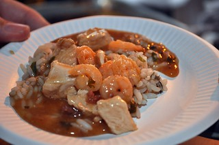 Shrimp, Chicken, & Andouille Étouffée over Mushroom Rice from Creole Kitchen | by swampkitty