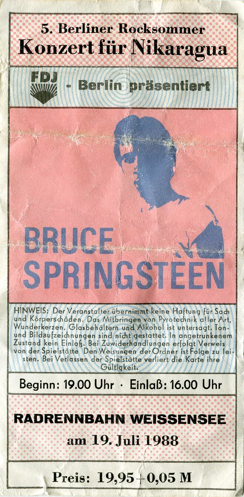 bruce springsteen concert ticket east