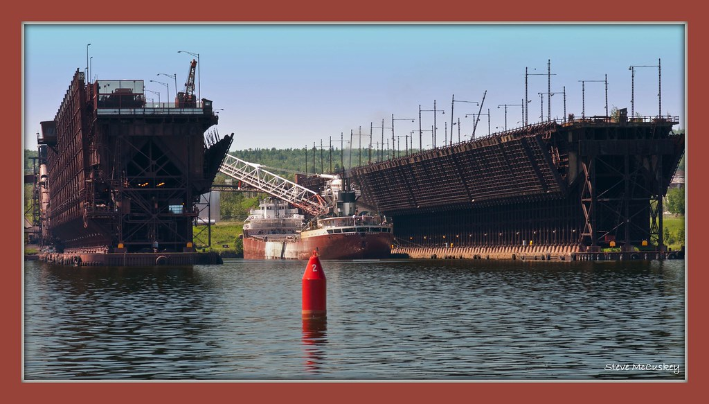 Ore Docks In Two Harbors Mn A Beautiful Summer Day In