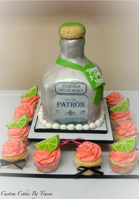 Patron Bottle Cake And Cuppies Here Is A Patron Bottle Cak Flickr