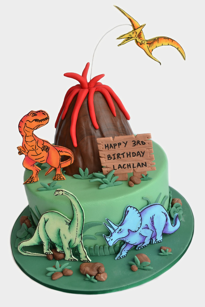 Lachlan S Dinosaur Cake Made For My Son S Birthday Back