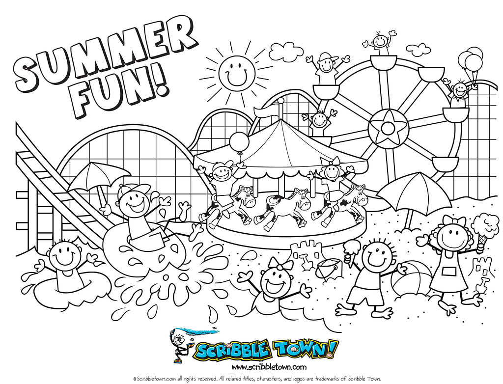 Here Is A Fun Coloring Page
