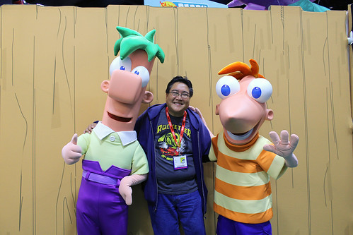 Meeting Phineas and Ferb at the Phineas and Ferb Exhibit at Comic-Con | by Castles, Capes & Clones