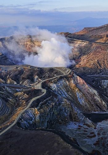 Mt ASO Volcano on Kyushu Island has become active again. | by williamcho