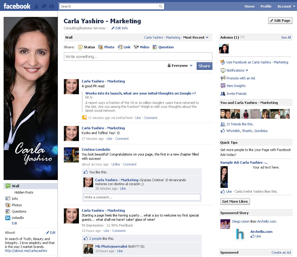 Facebook Page New Design