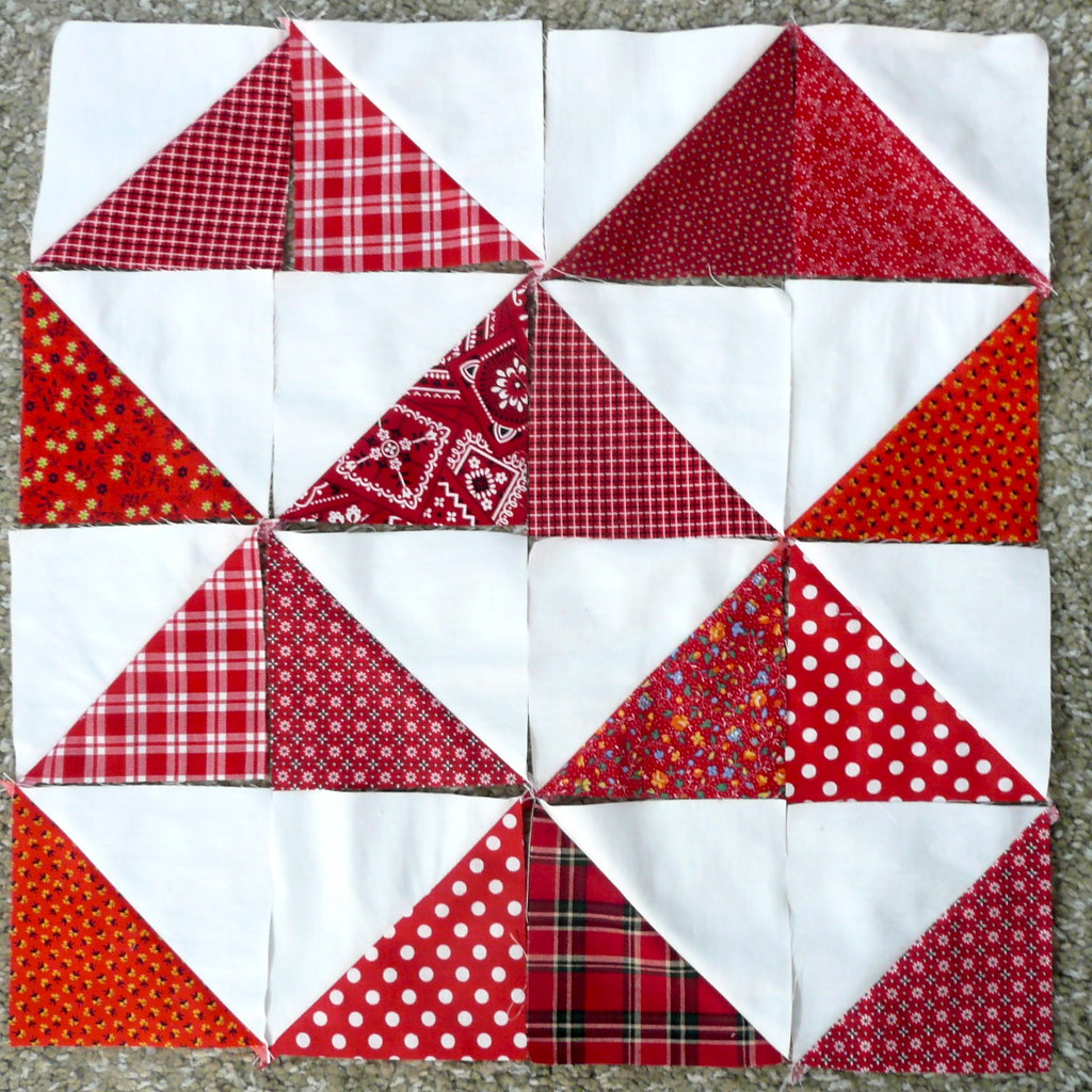 Quilt Designs With Triangles : Half Square Triangle Quilt Blocks Fabrics cut from my stas? Flickr