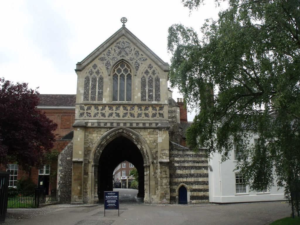 Norwich Cathedral The Ethelbert Gate The Grounds Of