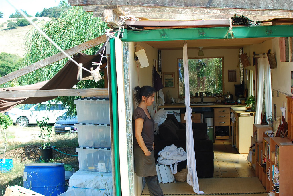 lulu on her shipping container tiny house Nicols Boullosa Flickr