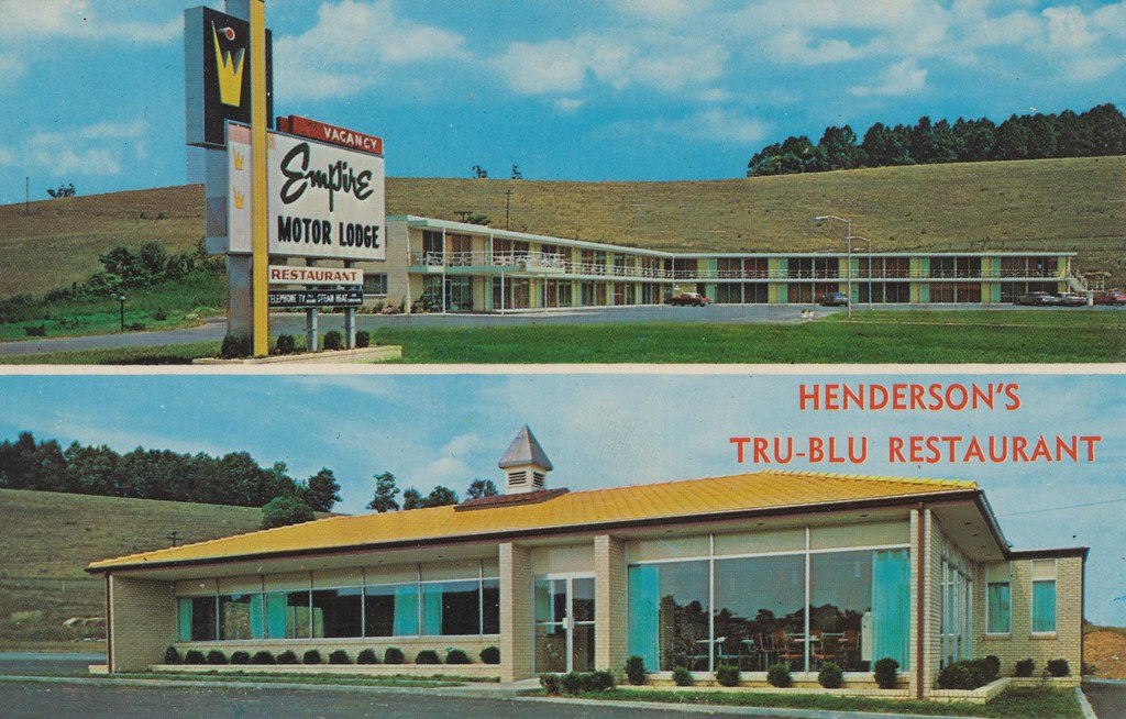 Empire Motor Lodge and Henderson's Tru-Blu Restaurant - Abingdon, Virginia