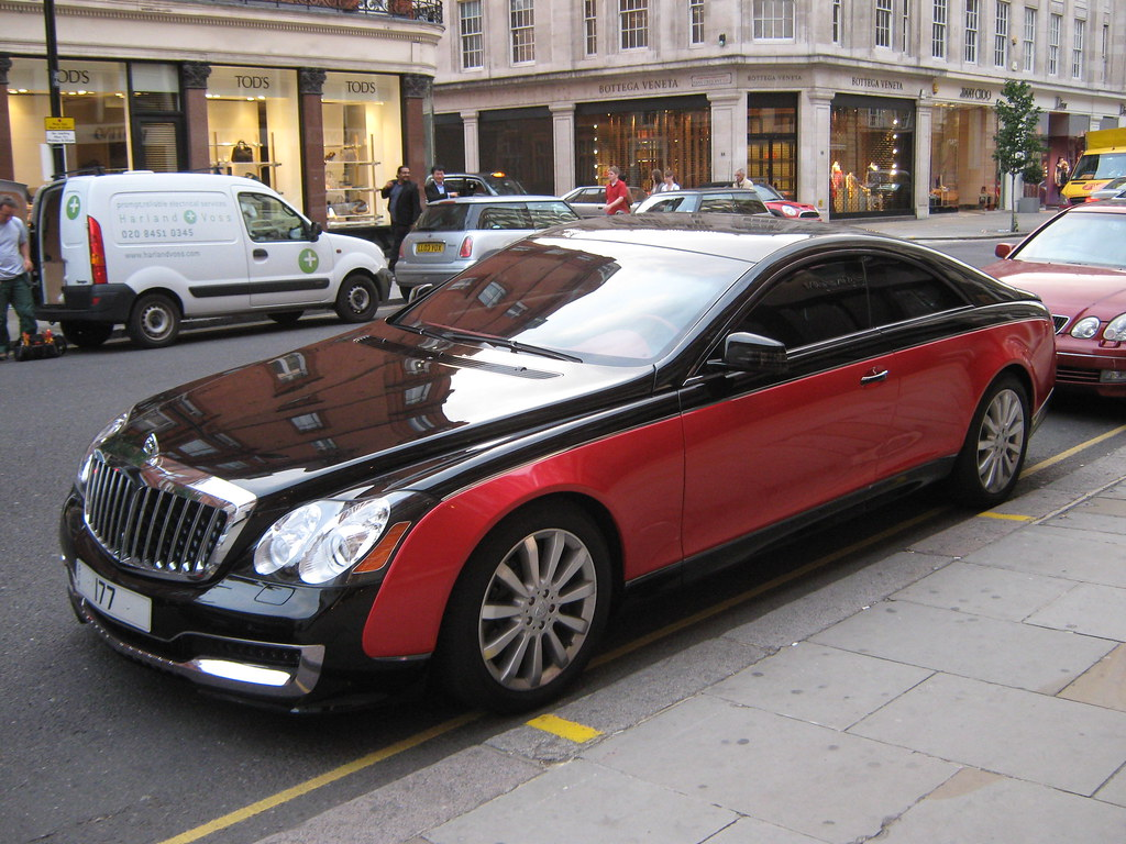 maybach coupe and black front xenatec maybach