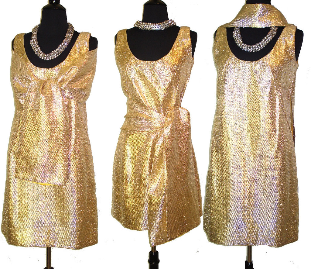 Vintage 1960s 60s Shimmering Gold Dress With Matching Stol… | Flickr