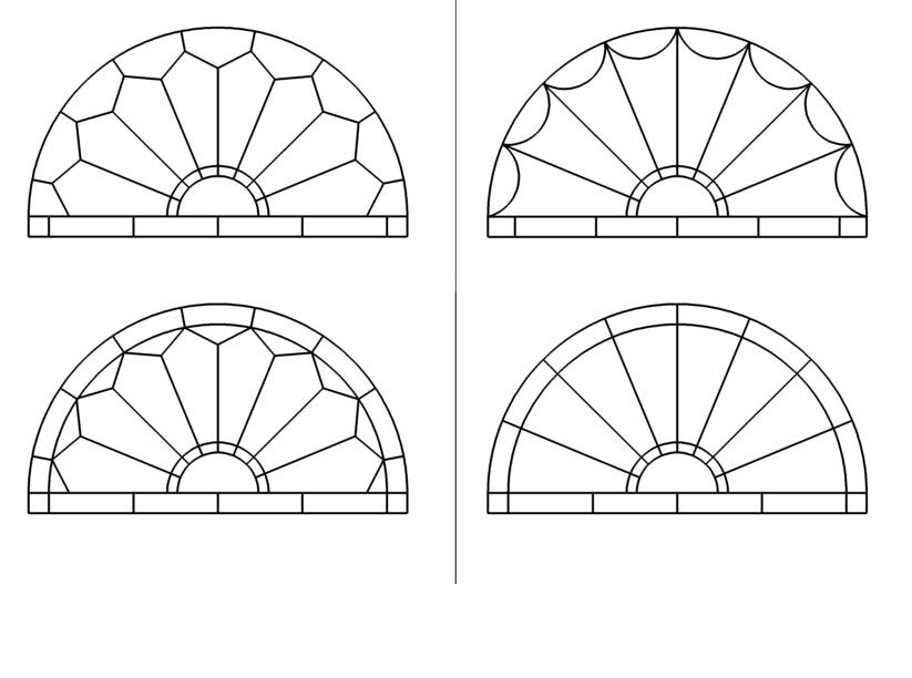 Stained glass fan style window patterns fan style stained