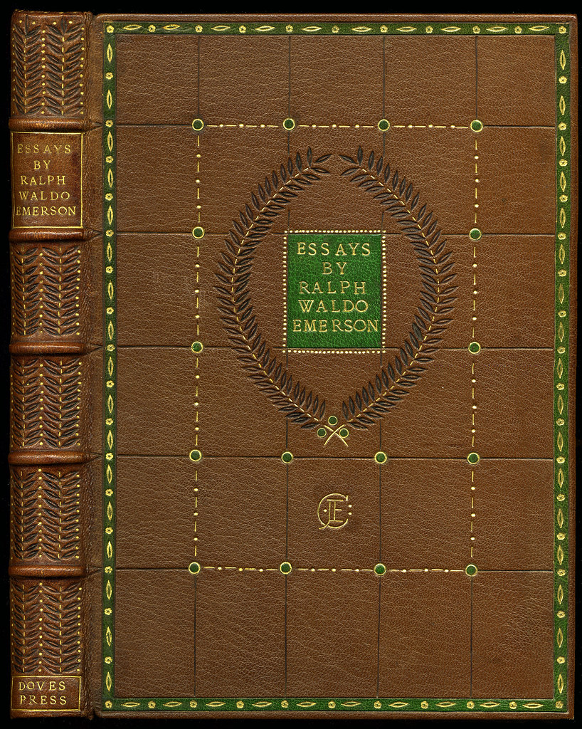essays of ralph waldo emerson Browse through ralph waldo emerson's poems and quotes 119 poems of ralph waldo emerson still i rise, the road not taken, if you forget me, dreams, annabel lee emerson's father was a unitarian minister who died leaving his son to be brought up by his mother a.