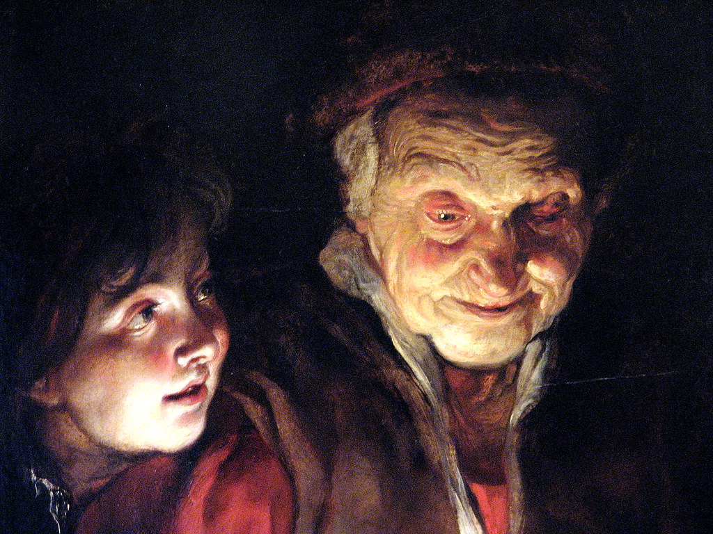 Old Woman and a Boy with Candles, Peter Paul Rubens (1617