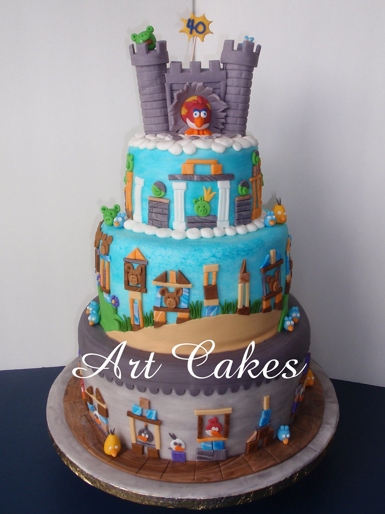 Cake Art Omr : Angry Birds Cakes Nora Rexach Flickr