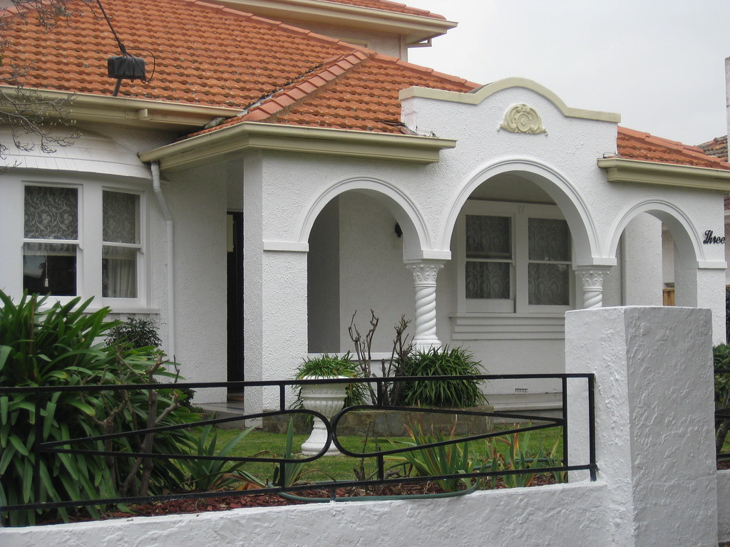 A spanish mission style villa in white moonee ponds flickr for Mission home