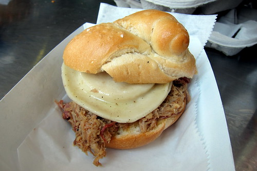Pittsburgh - PNC Park: Manny's BBQ - Pulled Pork and Pierogi Stacker | by wallyg