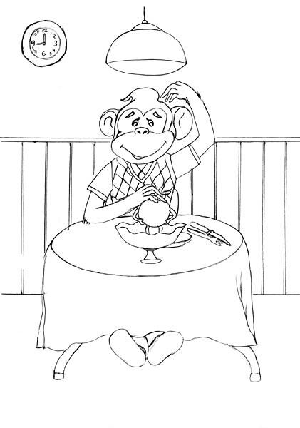 boceto mono liso