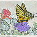 Tiger Swallowtail Butterfly - Woodblock