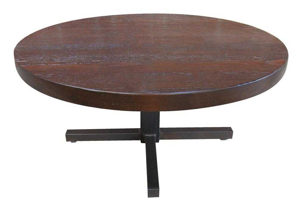 Portland Coffee Table Shown In Rustic Brown Wood