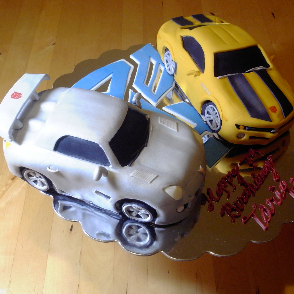 Transformers Jazz And Bumblebee Cakes 3 My Son Requested