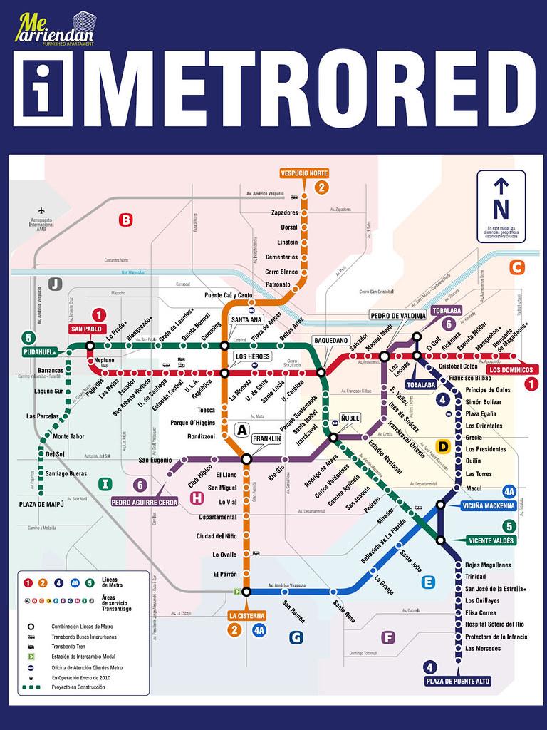 Plano de metro santiago chile plano de metro santiago for Planos en linea