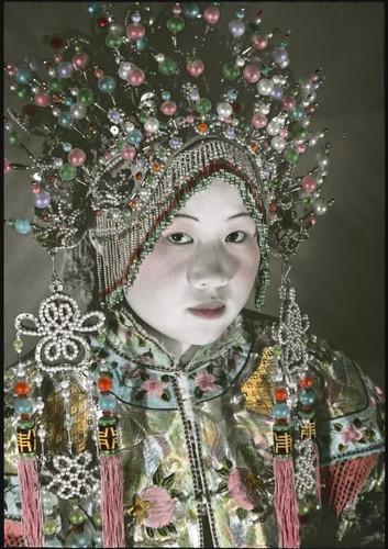 A woman wearing a headdress | by Powerhouse Museum Collection