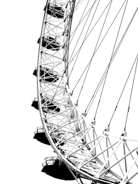 london eye black and - photo #39
