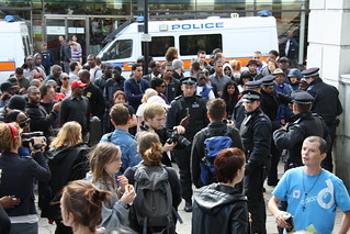 Crowd at Hackney police search | by Dave Hill Writer