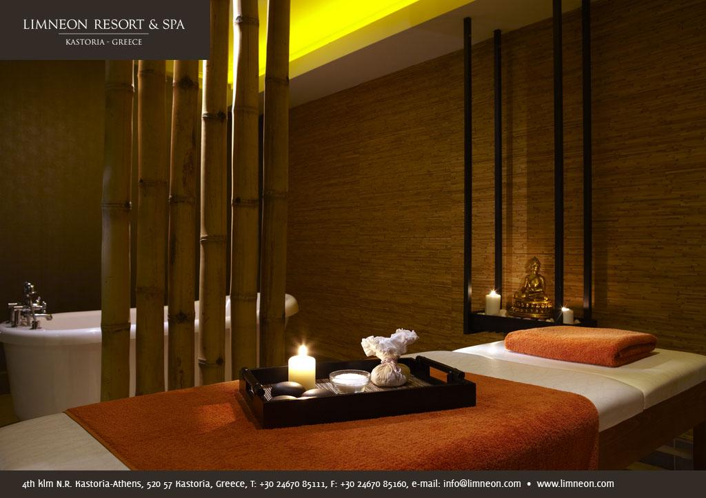 Limneon resort hotel spa massage room limneon resort for Hotel spa nueva castilla