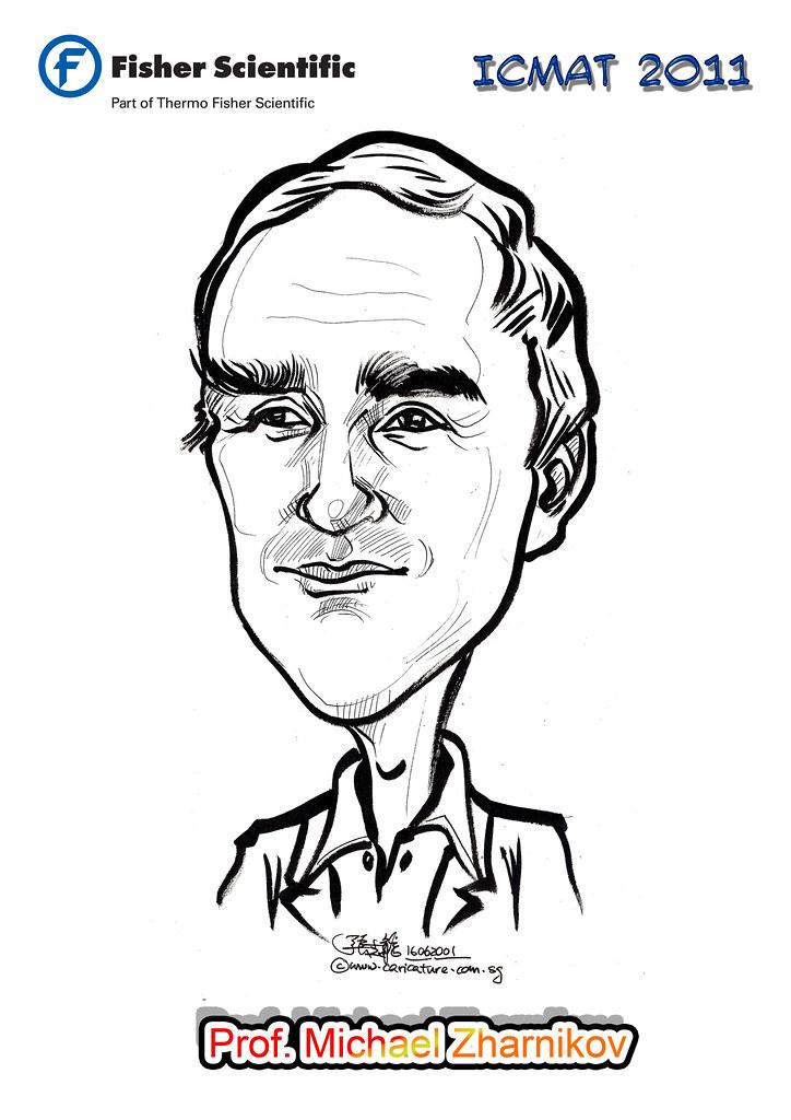 Caricature for Fisher Scientific - Prof. Michael Zharnikov… | Flickr