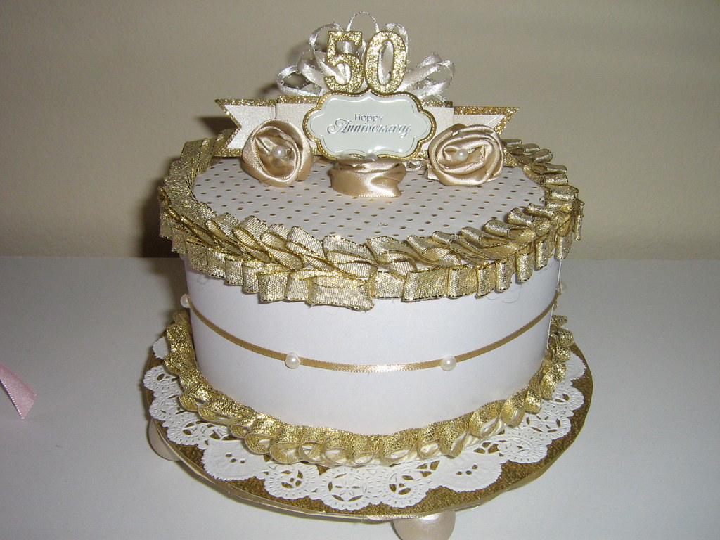 Designs Of Stand : Th anniversary cake gift box and centerpiece each