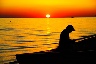 the fisherman and the sunset | by Domifik