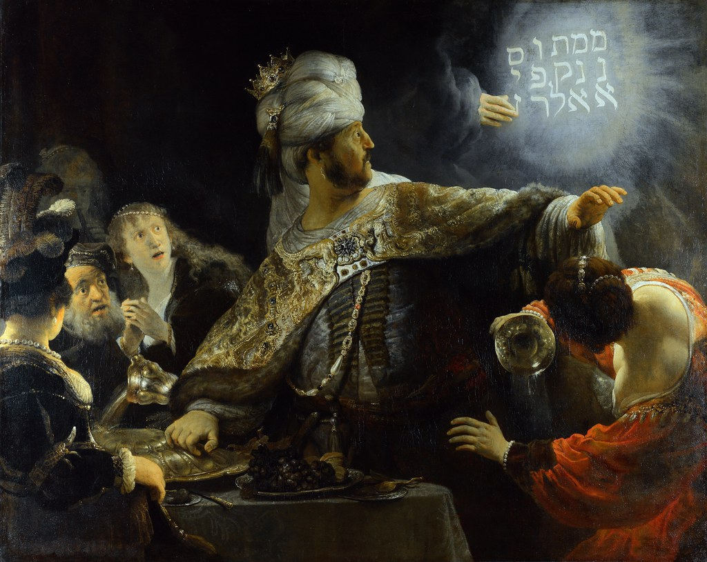 Image result for Belshazzar's Feast (1636-38)