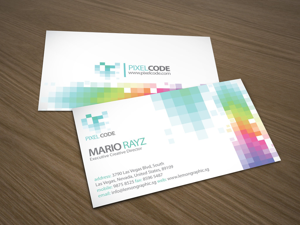 Pixelcode Corporate Business Card | More business card desig… | Flickr