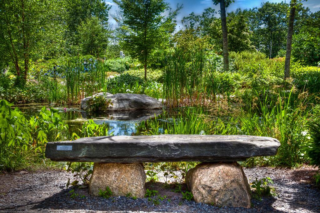 Coastal Maine Botanical Gardens Stone Work Bench Flickr