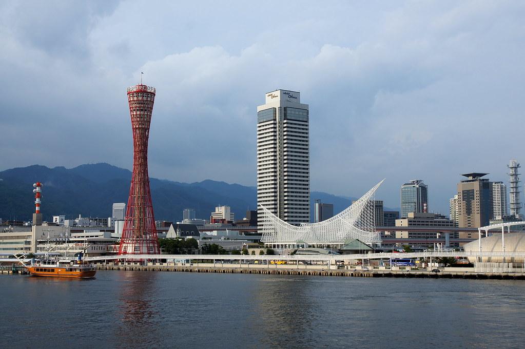 Kobe Port Tower  The view of Kobe Port Tower and Meriken ...
