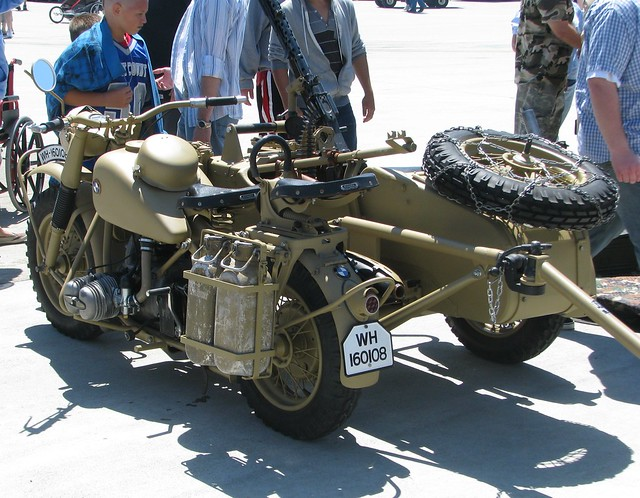 bmw r75 military motorcycle with sidecar & trailers 1943 | flickr