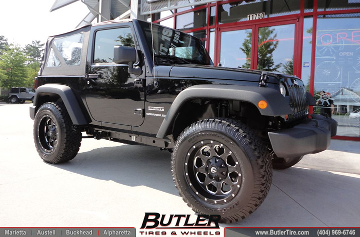 ... Jeep Wrangler With 18in Fuel Boost Wheels And Leveling Kit | By Butler  Tires And Wheels