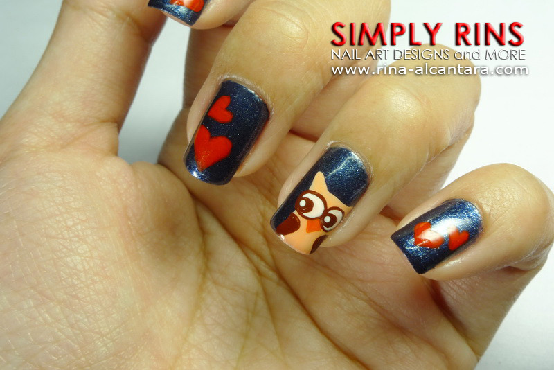 Nail Art Owls In Love 03 Rina Alcantara201108na Flickr