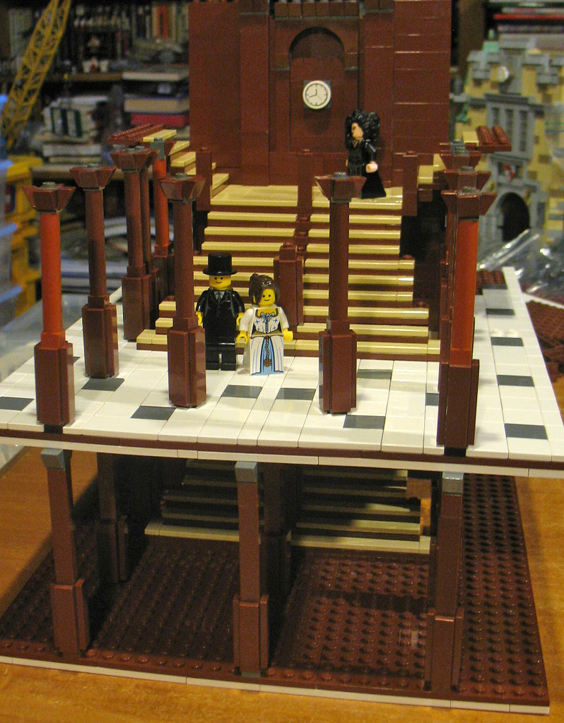 Rms Titanic Grand Staircase In Lego With The Approach