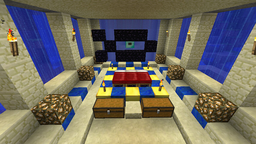 Manchoon flickr for Bed decoration minecraft