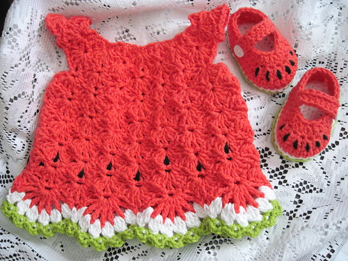 wATerMeLOn bABy dReSS & shOEs | by wiLDaBoUtCoLoR