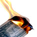 Burning Money Isolated on White