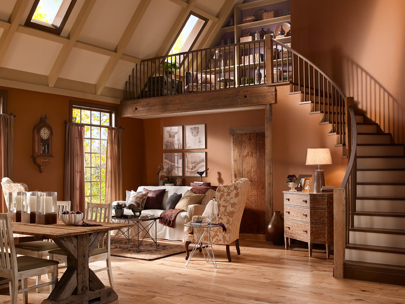 Lovely ... Rustic Living Room   By Behr Paint Amazing Ideas