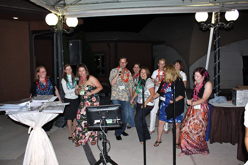 Karaoke at the Savvy Blogging Summit Luau | by CrystalECollins
